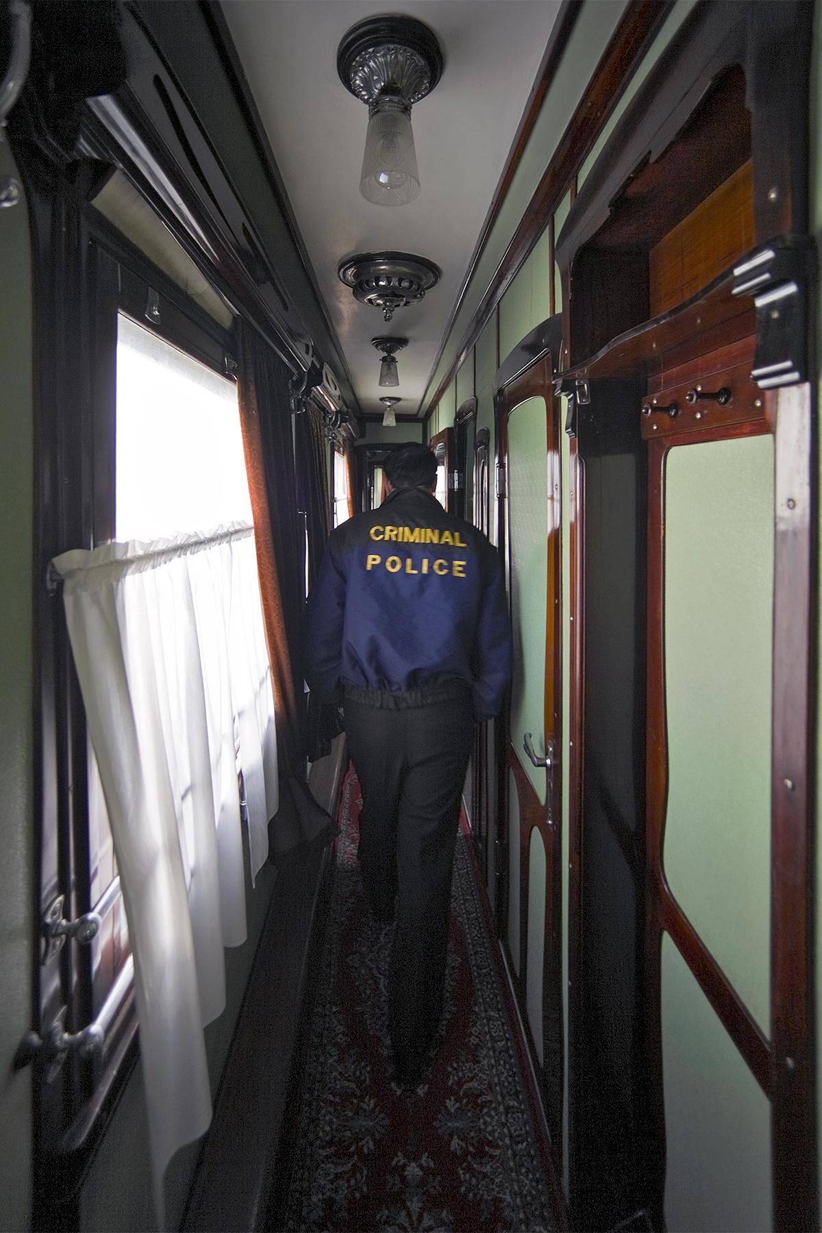 Kriminalpolizei im persönlichen Eisenbahnwagon Stalins in Gori