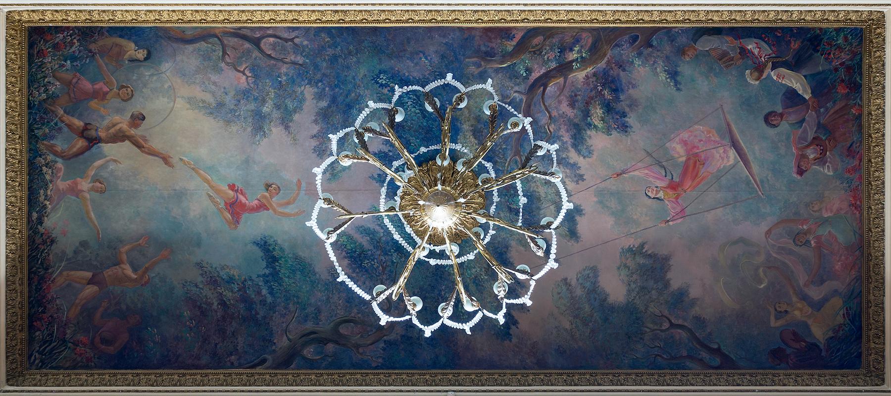 Deckenmalerei im Kulturpalast der Metallarbeiter