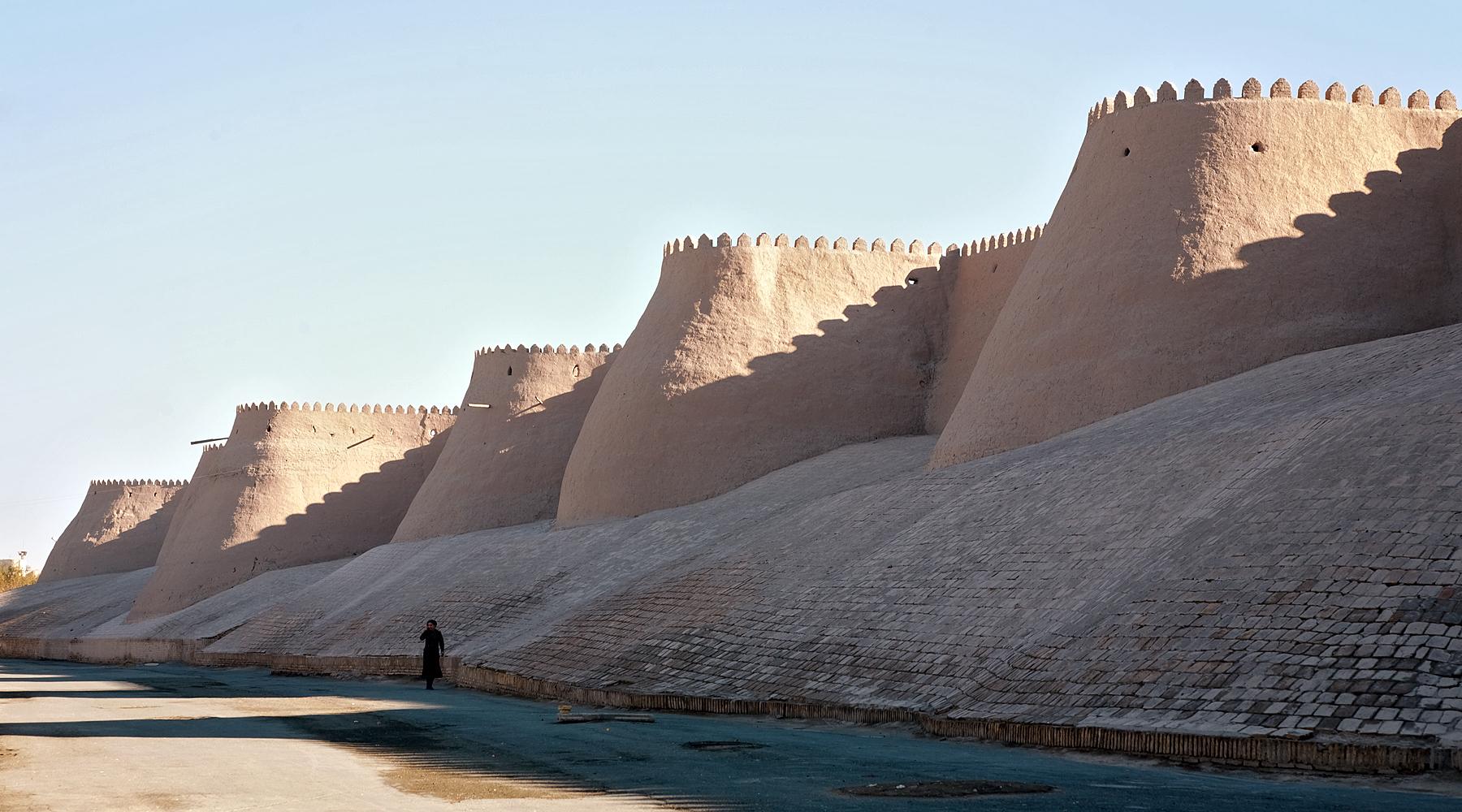historische Stadtmauer in Xiva